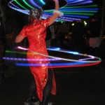 Having a blast with two LED hoops at PDX BurnOut 2009